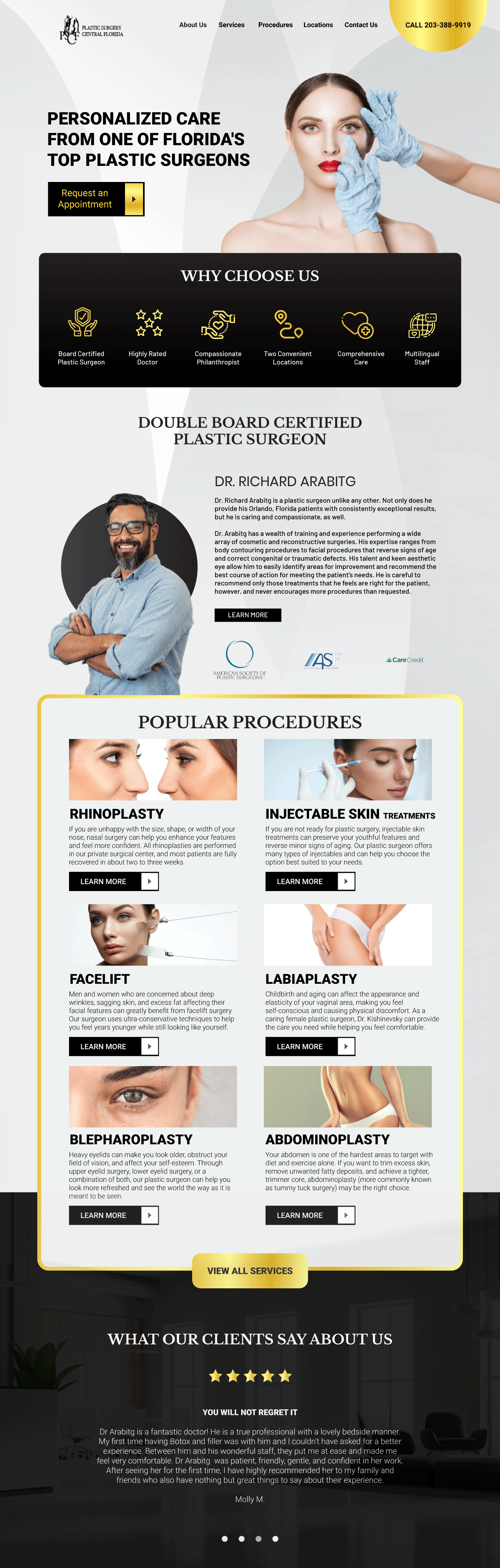 Plastic Surgeon Website